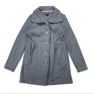 Patagonia Gray Parka Length Sweater Jacket